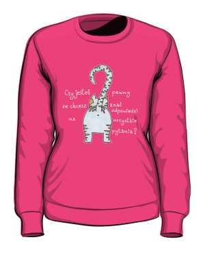 Odpowiedzi bluza różowa