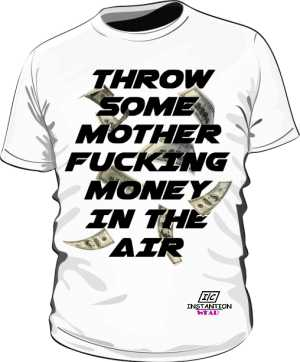Koszulka MONEY IN THE AIR Męska Biała