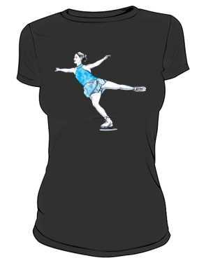 Koszulka z łyżwiarką basic