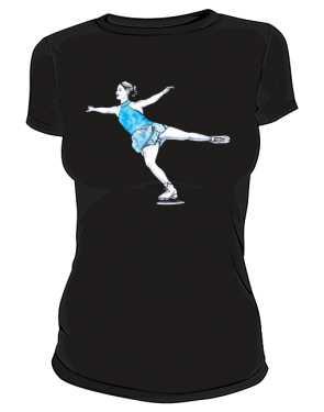 Koszulka z łyżwiarką premium