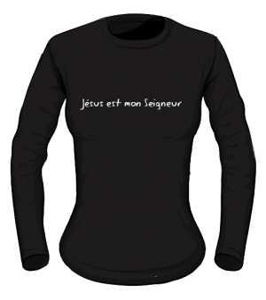 Koszulka damska czarna długi rękaw