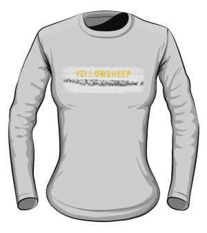 Koszulka damska szara długi rękaw