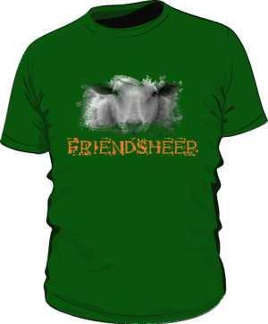 Koszulka męska zielona nadruk