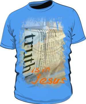 Koszulka męska niebieska z nadrukiem