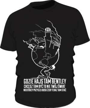 Czarna koszulka ZiemskiSyzyf