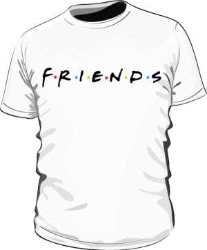 Koszulka Biała Friends Męska