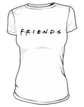 Koszulka Biała Friends Damska