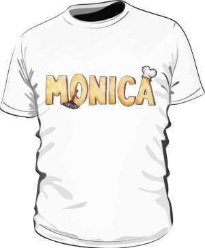 Koszulka Biała Friends Męska Monica
