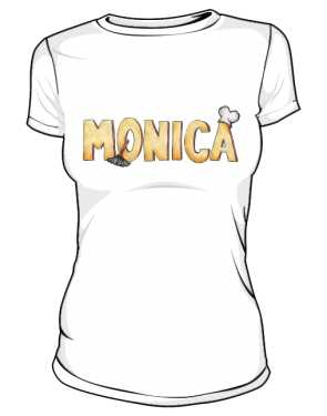 Koszulka Biała Friends Damska Monica