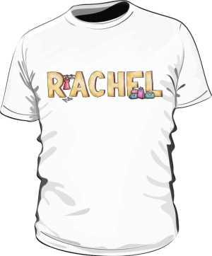 Koszulka Biała Friends Męska Rachel