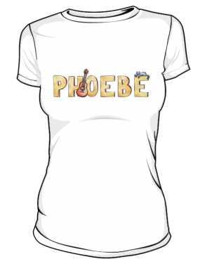 Koszulka Biała Friends Damska Phoebe