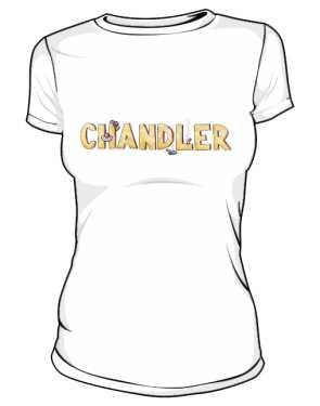 Koszulka Biała Friends Damska Chandler