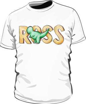 Koszulka Biała Friends Męska Ross