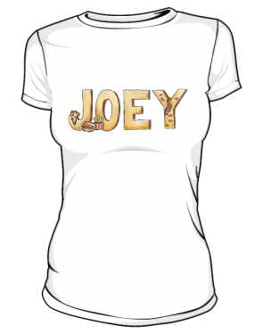 Koszulka Biała Friends Damska Joey
