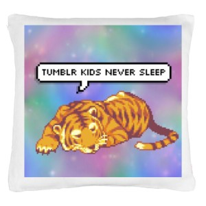 Tumblr tiger pillow