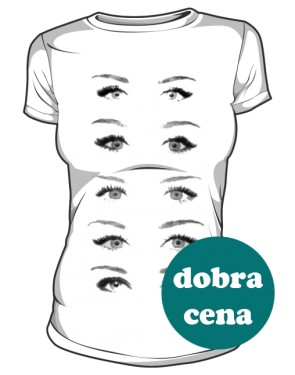 T Shirt Eyes Miley Damska