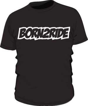 Koszulka czarna BORN2RIDE