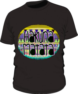 Hakuna Matata 3 T Shirt Męska Czarna