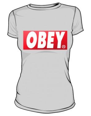 BE OBEY T Shirt Damski