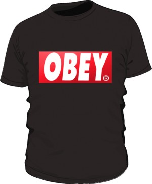 BE OBEY T Shirt Damski