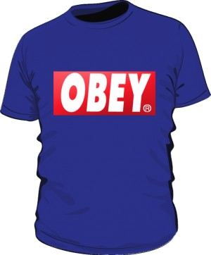 BE OBEY T Shirt Męski