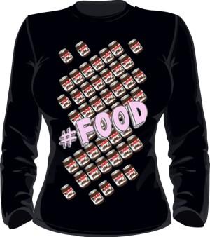 FOOD NUTELLA BLUZA Damska Black