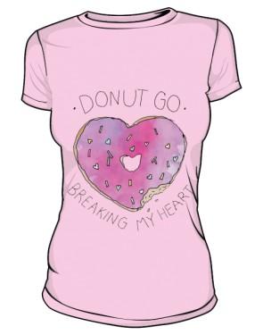 DONUT GO T Shirt Damski Różowy
