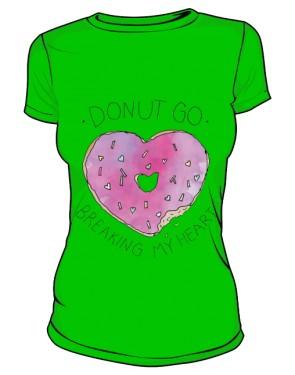 DONUT GO T Shirt Damski Zielony