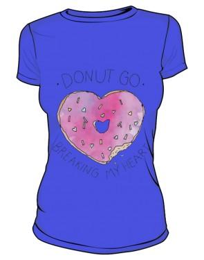 DONUT GO T Shirt Damski Niebieski