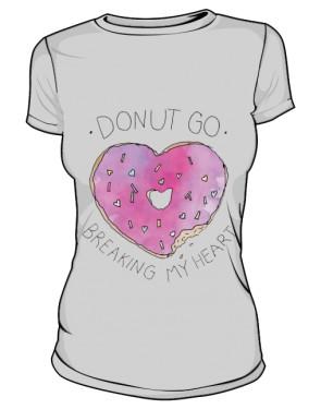 DONUT GO T Shirt Damski Szary
