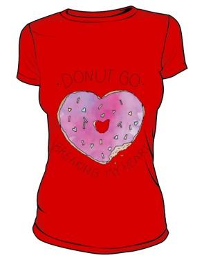DONUT GO T Shirt Damski Czerwony