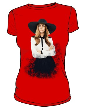 Cara D No 1 Icon T Shirt Red
