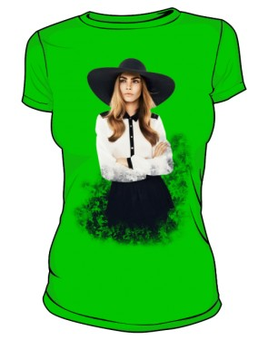 Cara D No 1 Icon T Shirt Light Green