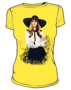 Cara D No 1 Icon T Shirt Yellow