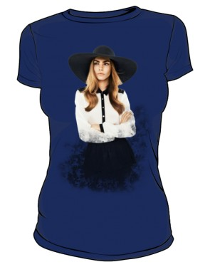 Cara D No 1 Icon T Shirt Black Blue