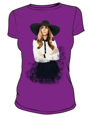 Cara D No 1 Icon T Shirt Violet