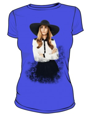 Cara D No 1 Icon T Shirt Blue