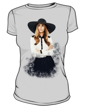 Cara D No 1 Icon T Shirt Silver