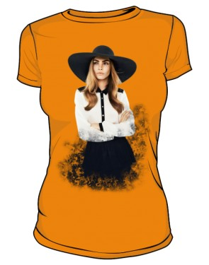 Cara D No 1 Icon T Shirt Orange