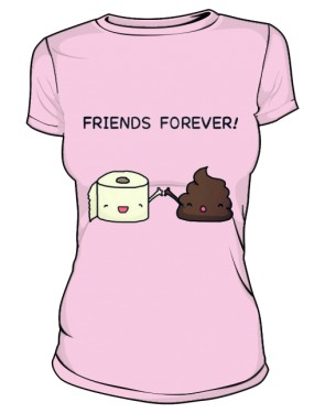Friends Forever T Shirt Pink