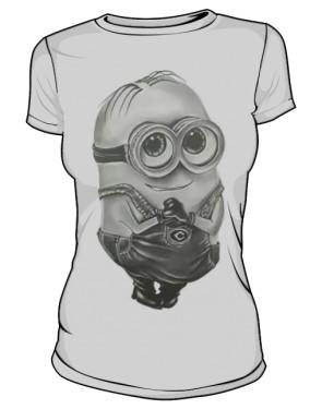 Minion T Shirt Damska Silver