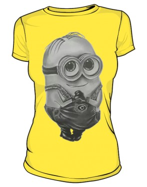 Minion T Shirt Damska Yellow