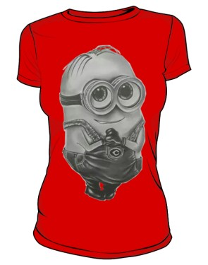 Minion T Shirt Damska Red