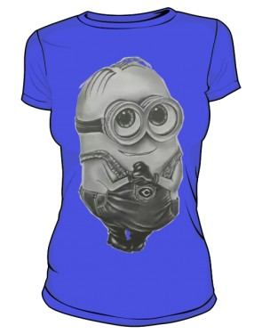 Minion T Shirt Damska Blue