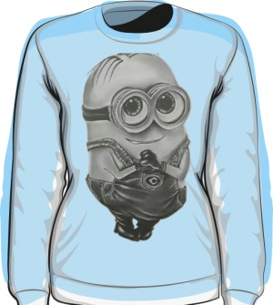 Minion Bluza Damska Light Blue