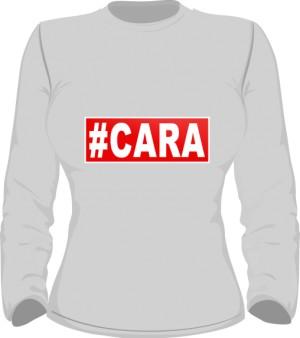 CARA T Shirt Damski Szary