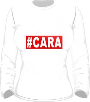 CARA T Shirt Damski Biały