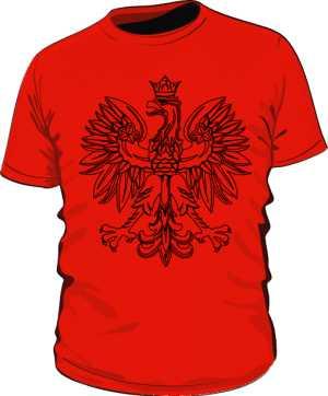 Męska czerwona koszulka z orłem