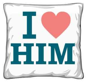 Poduszka I LOVE HIM