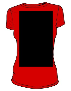 Place 2 Go T Shirt Damska Red